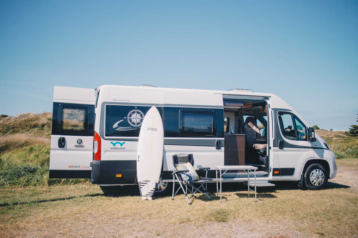Wilderness motorhome parked in Mount Maunganui