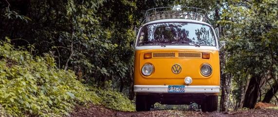 VW combi van yellow - Source: pexels Alfonso Escalante